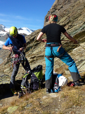 Rock Climbing Training Mountain Guide Zermatt