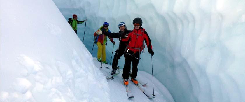 Freeride Glacier Skiing Mountain Guide Zermatt